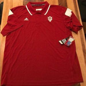 Indiana Hoosiers Men's Adidas Polo - Size XL - NWT